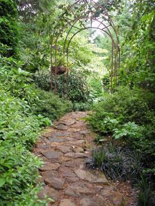 Arbor and Stone Path